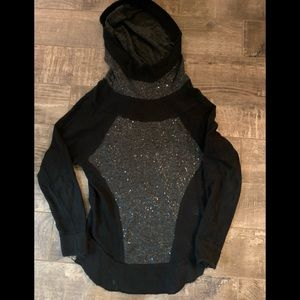 Free People Hooded Sequin Sweater
